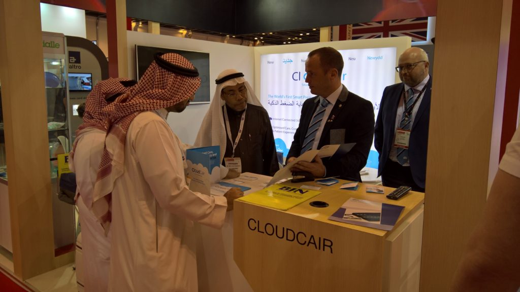 Adam Spiby and Jeremy Jones at Arab Health